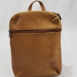 Handbags - No Brand Tan Leather Convertible Backpack Purse